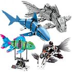 Prix de gros S Innovate 7006A-D Robot Shark Swim Fish Gear Power Toy Blocks Toys 342PCs Kid Movable Gift