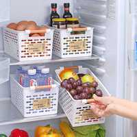 Plastic Kitchen Refrigerator Basket Fridge Storage Rack Freezer Shelf Holder Bathroom Desktop Storage Box