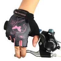 SAHOO Female Half Finger Cycling Glove Bike Gauntlets Bicycle Mitten