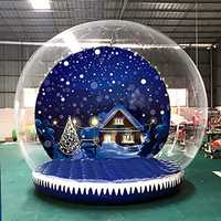 3m 350W / 500W High Inflatable House Outdoor Snow Globe Transparent Bubble Tent + Air Pump