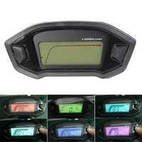 Motorcycle Digital Speedometer Motor LCD Odometer Seven Backlight