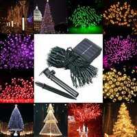 Waterproof Solar Powered 12M 100LED String Fairy Light Garden Party Christmas Decor