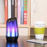Portable LED Colorful Light bluetooth Speaker RGB Bulb Smart Wireless Better Bass Music Player Cool Breathing Light Gift