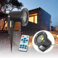 Christmas Star Projector Stage Light Waterproof R&G Laser LED Remote Control Outdoor Landscape Lamp