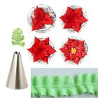 Meilleurs prix 7pcs Leaf Cup Cake Decor Stainless Steel Icing Piping Nozzles Set Pastry Tips