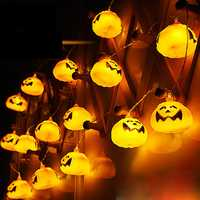2.7M 16 LED Halloween Pumpkin String Lights LED Fairy Lights for Festival Christmas Halloween