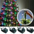 Meilleurs prix Colorful 64LEDs Three Modes Christmas Tree Fiber Optical Night Light Bulb for Party AC110-240V