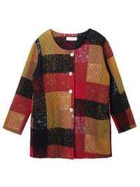 Plus Size Vintage Ethnic Thick Button Cotton Coat
