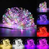 30M LED Silver Wire Fairy String Light Christmas Xmas Wedding Party Lamp 12V