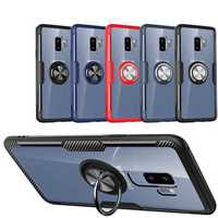Bakeey Clear Ring Grip Kickstand Magnetic Adsorption Protective Case For Samsung Galaxy S9/S9 Plus