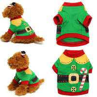 Pet Dog Cat Puppy Clothes Santa Costumes Winter Warm Clothing Pet Apparel Coat Jacket Sweater