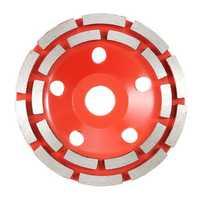100-230mm Double Row Diamond Grinding Disc Diamond Concrete Grinding Wheel Disc Segment Granite Stone for Angle Grinder