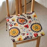 40x40cm Bohemia Style Sponge Cotton Linen Office Home Chair Seat Cushion Mat Home Decor