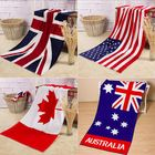 Offres Flash 70x140cm Absorbent Cotton Australian Canada Flag Beach Towels Creative Quick Dry Bath Towel