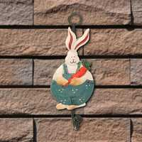 Stainless Steel Rabbit Clothe Robe Hook Wall Mounted Towel Hanger Door Holder
