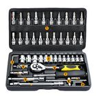 Acheter 46Pcs Tool Box Car Motorcycle Repair Set Hand Tool Home Service DIY Kit Socket Head Wrench