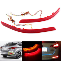 2Pcs LED Rear Bumper Reflector Fog Light Brake Lamp for KIA Optima K5 2014-2015