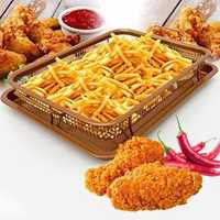Copper Chef Rectangle Crispy Tray Fry Pan French Baking Basket Easy Clean Kitchen Cooking Crispy Tray Baking Pan BBQ Barbecue Tray