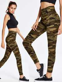 Camouflage Printed Elastic Waist Yoga Sport Casual Leggings For Women