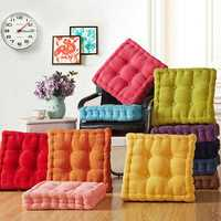40 x 40cm Soft Washable Corduroy Tatami Floor Seat Cushion Square Plaid Thicken Square Winter Warm Chair Pad Cushion Stereo Plush Dining Chair Cushion Soft Car Seat Cushion Home Floor Decor