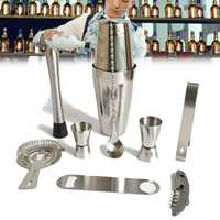 600/800ML Stainless Steel Cocktail Shaker Mixer Drink Bartender Martini Wine Making Tools