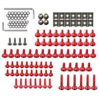 137pcs Fairing Bolt Kit Fastener Clip Screw Nut For Sportbikes Motorcycle
