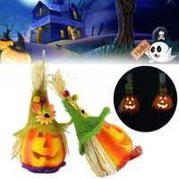 Halloween Cute Pumpkin Scarecrow LED Light Party Haunted House Decor
