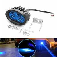 9-60V DC 20W Blue Light Waterproof LED Headlights Stainless Steel Forklift Warning Lamp