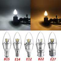 E27/E14/E12/B22/B15 Dimmable LED Bulb 3W SMD 2835 Chandelier Candle Light Lamp AC 220V