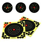 Best Price 50 Pack 8'' Bullseye Splatterburst Stick Splatter Adhesive Archery Shooting Target Paper