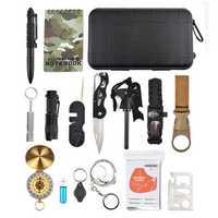 IPRee® 16 In 1 EDC Multifunctional Tools Kit Bag Camping Survival Emergency SOS Case