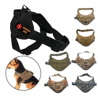 Dog Training Vest Nylon Adjustable Patrol Harness Service Sides for Large