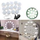 Prix de gros Hollywood Style 14Bulbs White LED Vanity Mirror Lights Kit + EU Power Supply Adapter+Dimmer