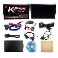 Red EU Version KESS V5.017 No Token Limit KESS V2 Manager with And KTAG V7.020 ECU Programmer Car Engine Diagnostic Analyzer