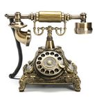 Acheter Retro Vintage Push Button Ceramic Antique Telephone Dial Desk Phone Home Decor