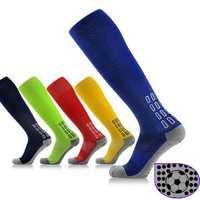 Men Women Anti-skid Soccer Socks Compression Football Stockings Thick Towel Bottom