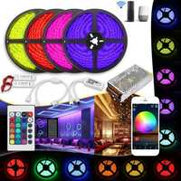 20M Waterproof SMD5050 240W Smart WiFi APP Control LED Strip Light Kit Work With Alexa AC110-240V