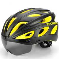 ROCKBROS Bike Magnetic Helmet Sunglasses Bicycle Helmet Cycling Polarized Lense Visor Light Helmets