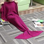 Offres Flash 180x90CM Yarn Knitting Mermaid Tail Blanket Cashmese-like Warm Super Soft Sleep Bag Bed Mat