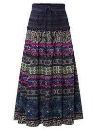 Bohemian Printed High Elastic Waist Women Skirts