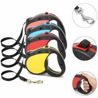 5M Long Retractable Dog Pet Lead Tape Training Rope Leash Extendable Max 30kg