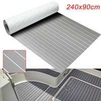 240cmx90cmx5mm Marine Flooring Faux Teak Grey With White Lines EVA Foam Boat Decking Sheet