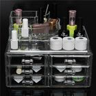 Meilleur prix 6 Drawer Clear Acrylic Make Up Organizer Drawers Cosmetic Display Holder Case Storage 2 Layer