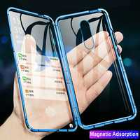 Bakeey 360º Curved Screen Front+Back Double-sided Full Body 9H Tempered Glass Metal Magnetic Adsorption Flip Protective Case For OnePlus 7 PRO
