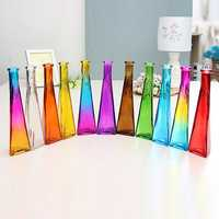 Color Clear Mini Glass Vase Zakkz Flower Bottle Glass Ornaments Flower Arrange Home Decor