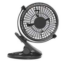 Mini Clip-on USB Powered Table Fan Strong Airflow Cooling Fan