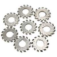 Module 1.5 PA20 Bore 22mm #1-8 HSS Involute Gear Milling Cutter