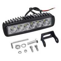 12V 18W 6LED Waterproof LED Headlights Flood Work Light Motorcycle Truck Boat Camping Lamp