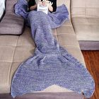 Meilleurs prix Honana WX-37 180x90cm Knitting Mermaid Tail Blanket Home Office Acrylic Fibers Warm Soft Sleep Bag