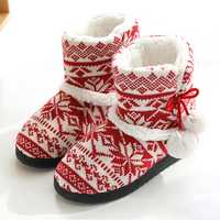 Women's Soft Plush Warm Indoor Home Slipper Boots Shoes